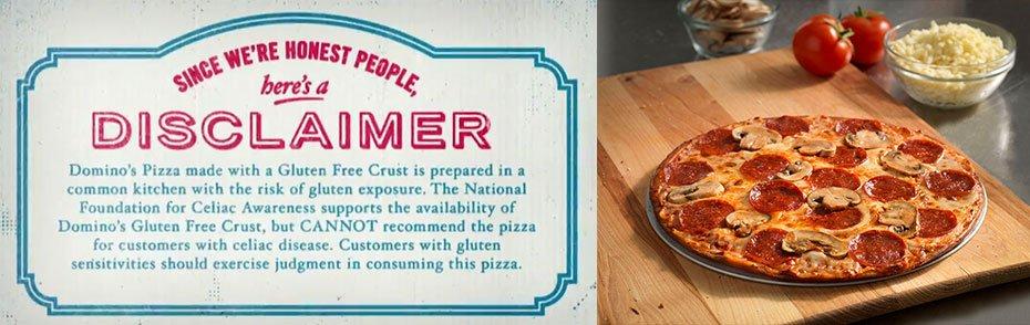 Domino's Pizza Gluten Free Pizza Review