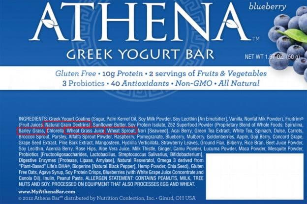 Athena Bar Label
