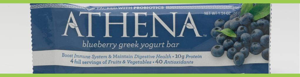 Athena Greek Yogurt Bars Removing Gluten Free Label
