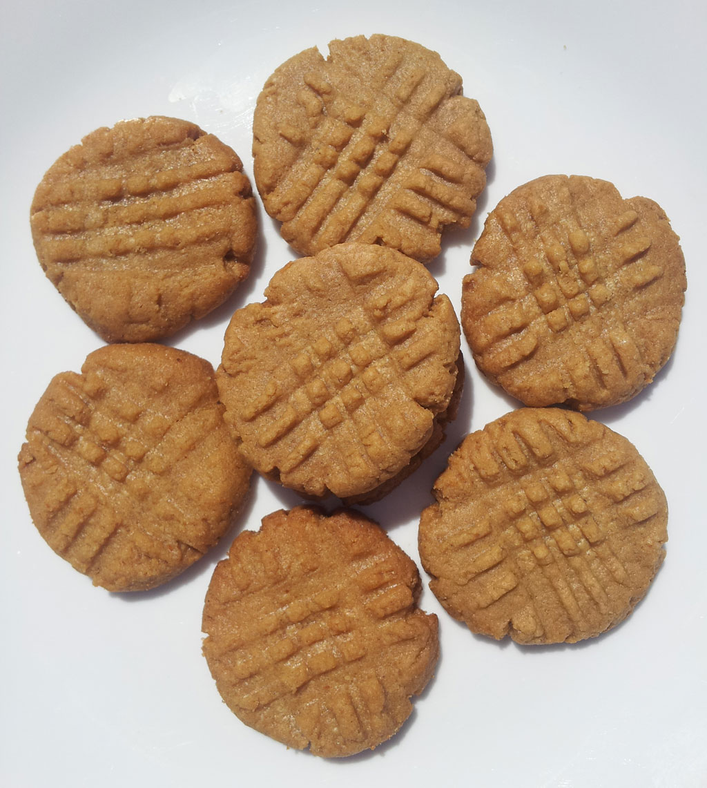 Easy Low Sugar Peanut Butter Cookies Gluten Free