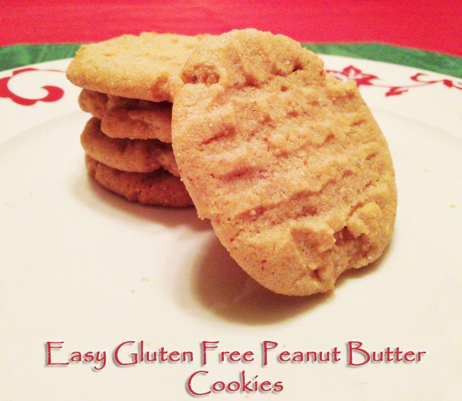 Easy Gluten Free Peanut Butter Cookies